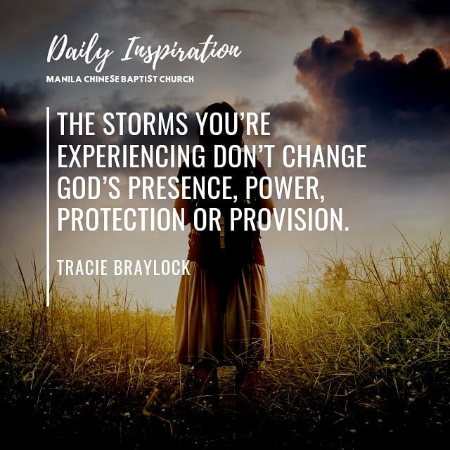 The storms you're experiencing don't change God's presence, power, protection or…
