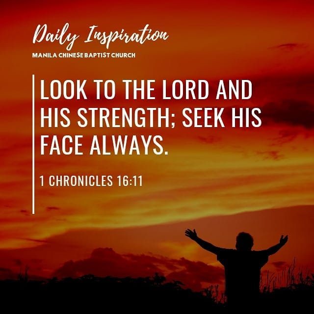 Look to the Lord and His strength; seek His face always. ~ 1 Chronicles 16:11…