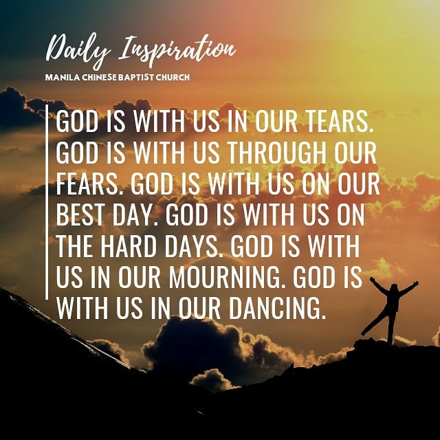God is with us in our tears. God is with us through our fears. God is with us on…