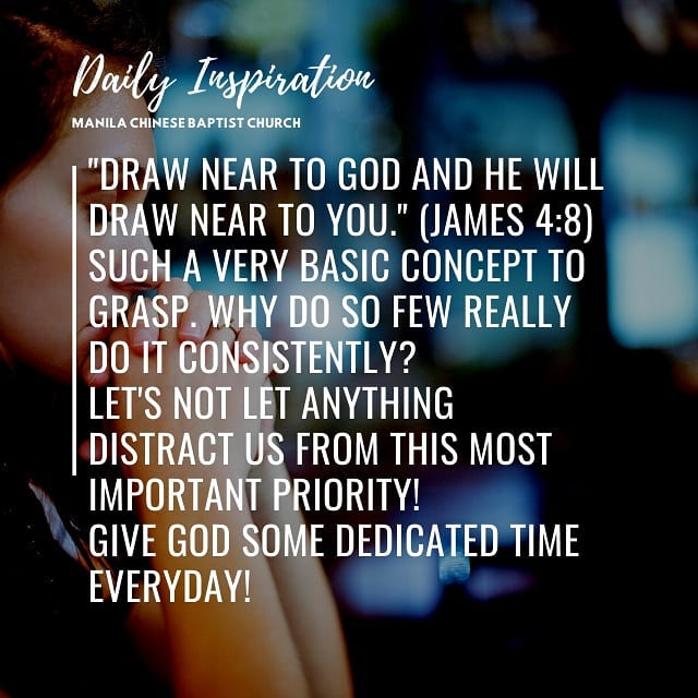 """""""Draw near to God and He will draw near to you."""" ~ James 4:8  Such a very basic …"""