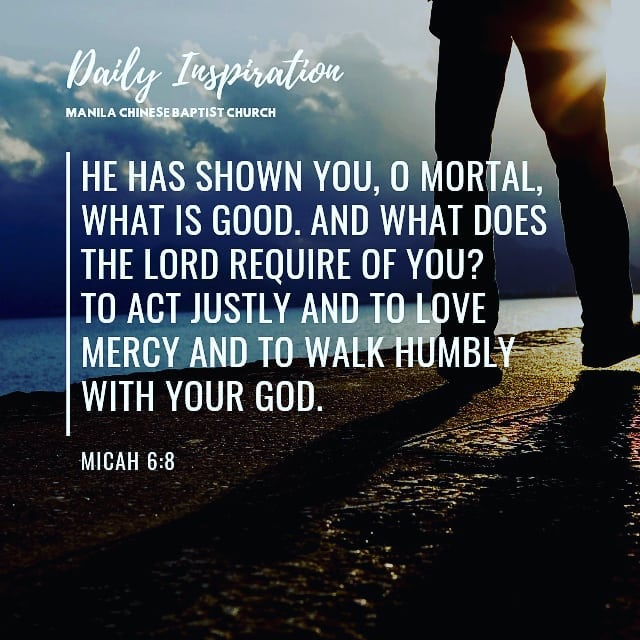 He has shown you, O mortal, what is good. And what does the Lord require of you?…