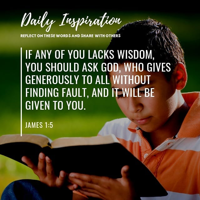 If any of you lacks wisdom, you should ask God, who gives generously to all with…