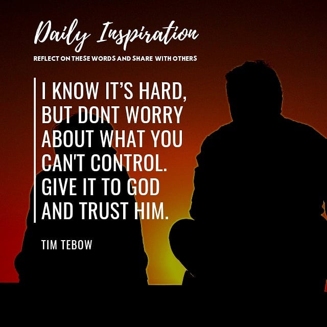 I know it's hard, but dont worry about what you can't control. Give it to God an…