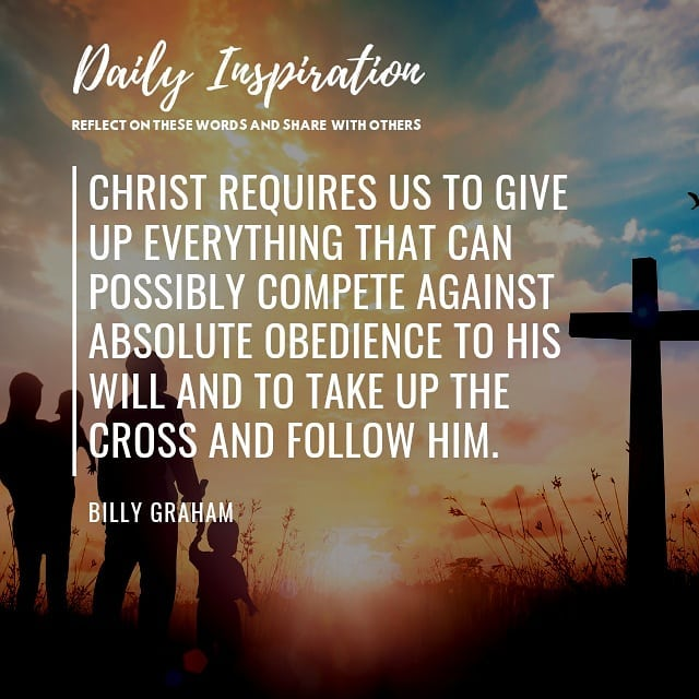 Christ requires us to give up everything that can possibly compete against absol…
