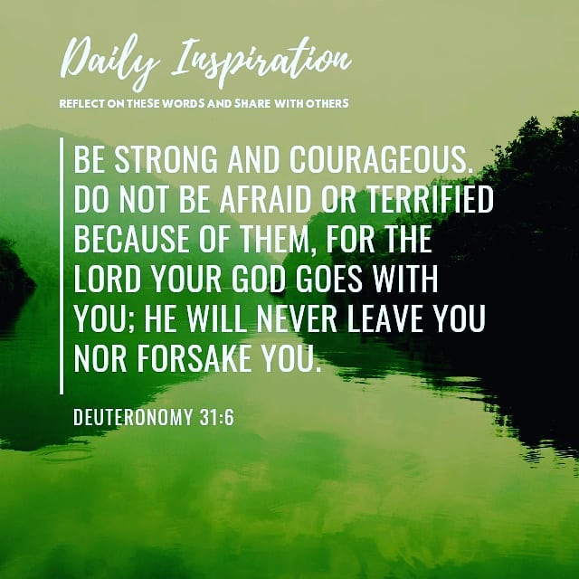 Be strong and courageous. Do not be afraid or terrified because of them, for the…