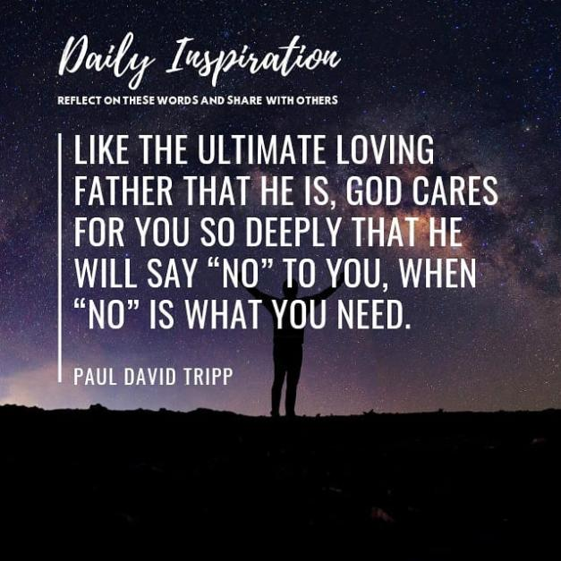Like the ultimate loving Father that he is, God cares for you so deeply that he …