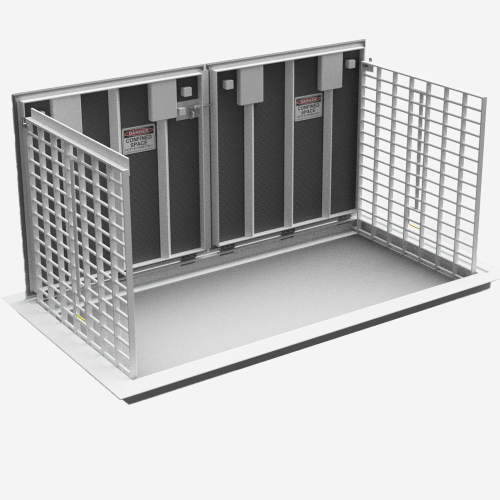 LFM 2 section safety access cover