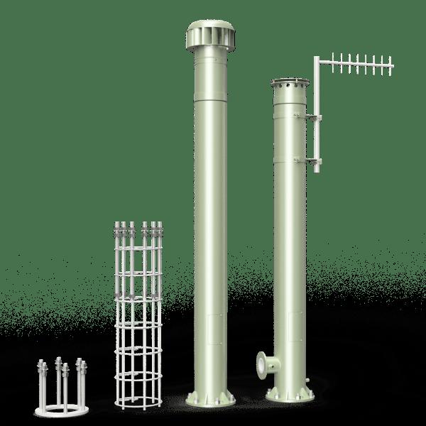 vent poles 300mm