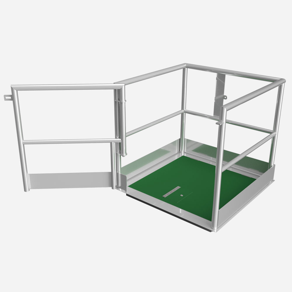 LFPMR safety access cover with safety rail