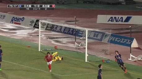 野田隆之介の復帰戦でのグランパス初ゴール4