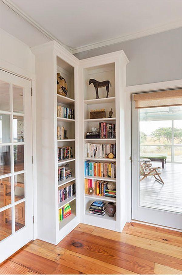 Minimalist Corner Bookcase