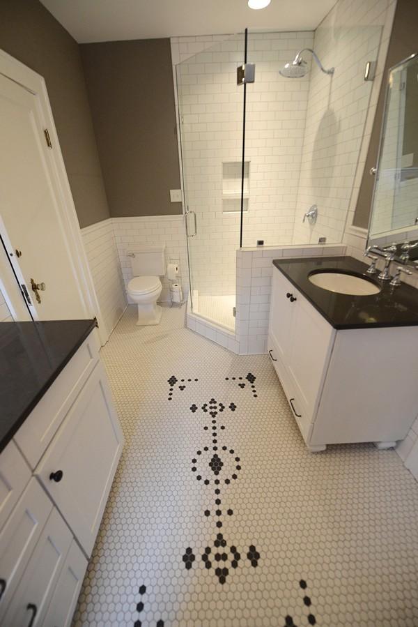 hexagon-shaped tile