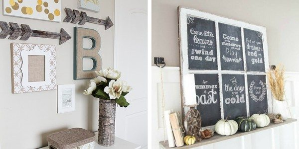 Trendy Statement Wall Chic Rustic Wall Signs