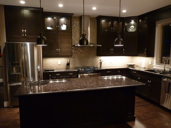 Dark Brown Kitchen