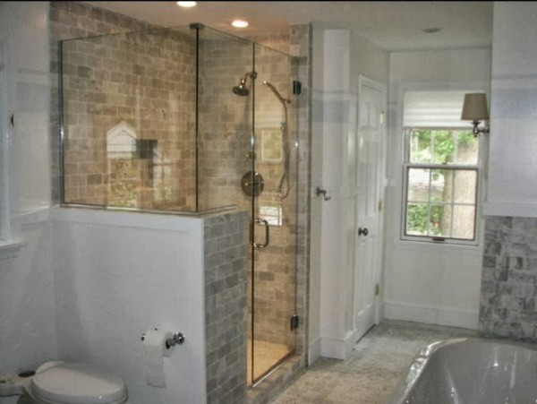 Partial Wall Shower