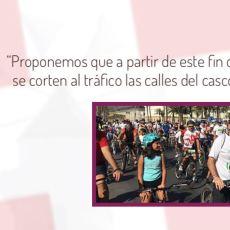 MC propone cortar al tráfico el casco histórico desde este fin de semana para fomentar la movilidad peatonal