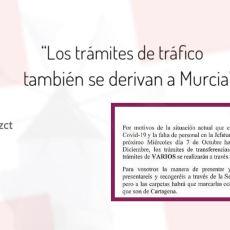 Enésimo agravio a Cartagena: Jefatura de Tráfico traslada a Murcia la gestión de trámites administrativos