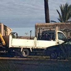 Tras dos años de reclamaciones de MC, el Gobierno y la propietaria comienzan a asumir que deben reparar el muro del monasterio de San Ginés de la Jara