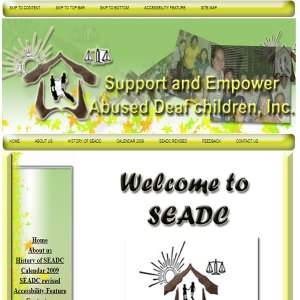 Support and Empower Abused Deaf Children Website