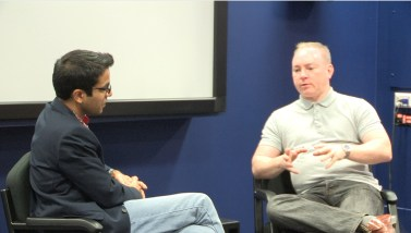 Dr Pawas Bisht (left) in discussion with Jon Rosling