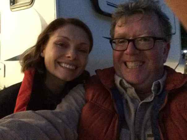 With MyAnna Buring, shooting IN THE DARK for BBC