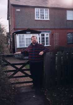 Holly Croft Cottage, long Lane, Saughall, where June was born. Photo shows David McClelland at cottage, November 1998