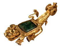 Cast-Gold Composite Animal Effigy Pendant