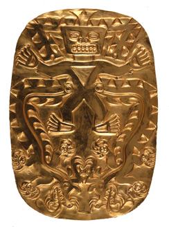 Embossed Gold Plaque