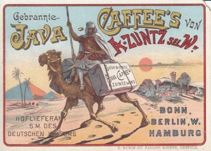 Java Coffee Trade Card