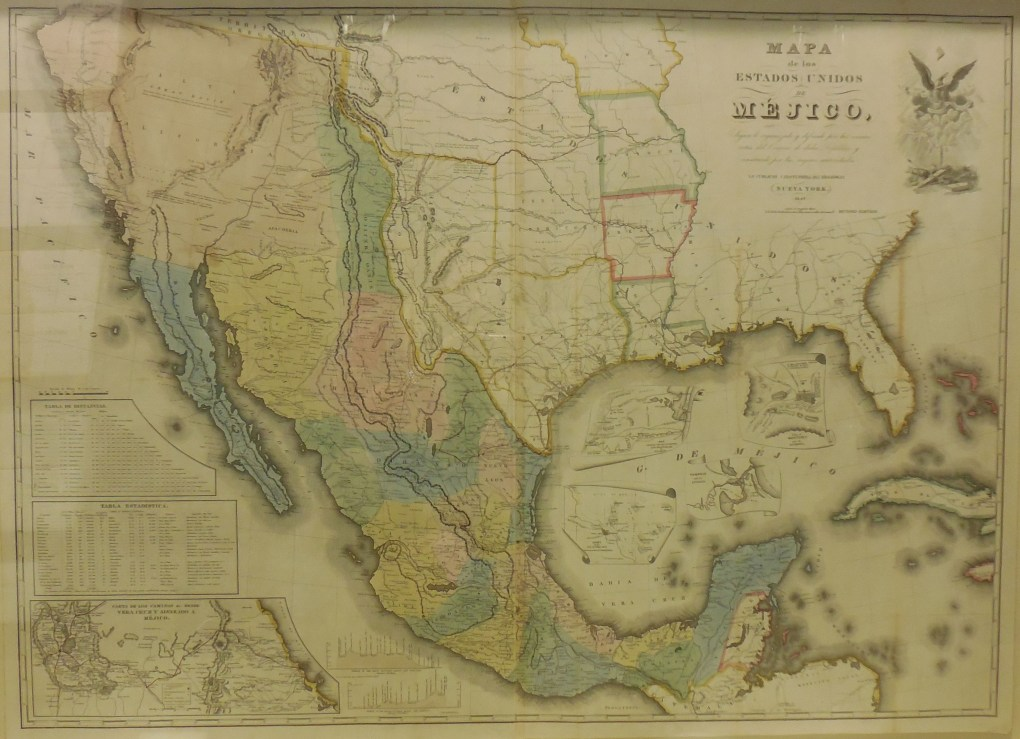 """Mapa de los Estados Unidos de Mejico,"" John Disturnell (American, 1801-1877), reproduced in New York in 1847, ink and paper, 2015.15.23."