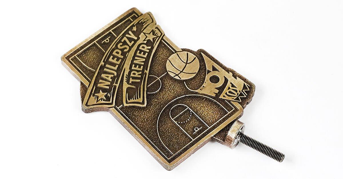 Statuetka koszykówka - wykonana na zamówienie przez MCC Medale
