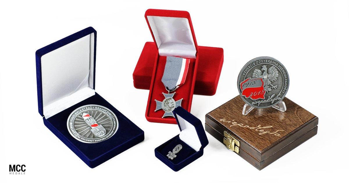Etui na medale i pinsy do odlewów MCC Medale