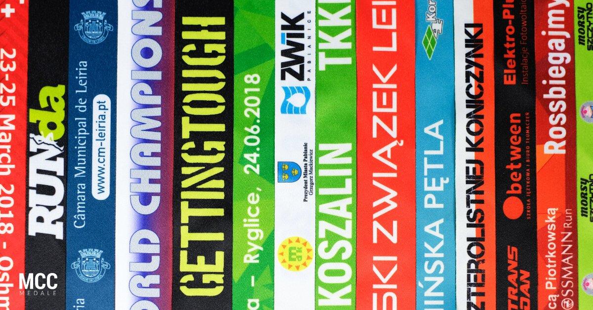Szarfy do medali sportowych z personalizowanym nadrukiem