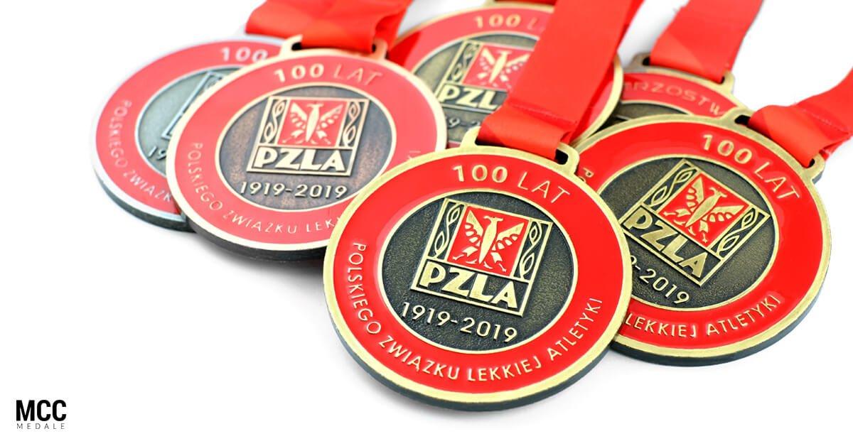 Medale sportowe wykonane dla Polskiego Związku Lekkiej Atletyki