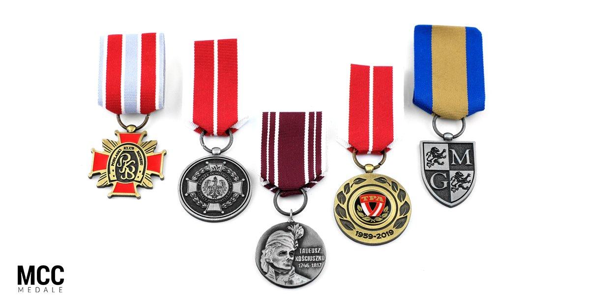 Odznaczenia okolicznościowe wykonane przez polską firmę MCC Medale