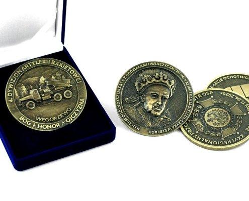 Medale okazjonalne wyprodukowane przez polskiego producenta - firmę MCC Medale