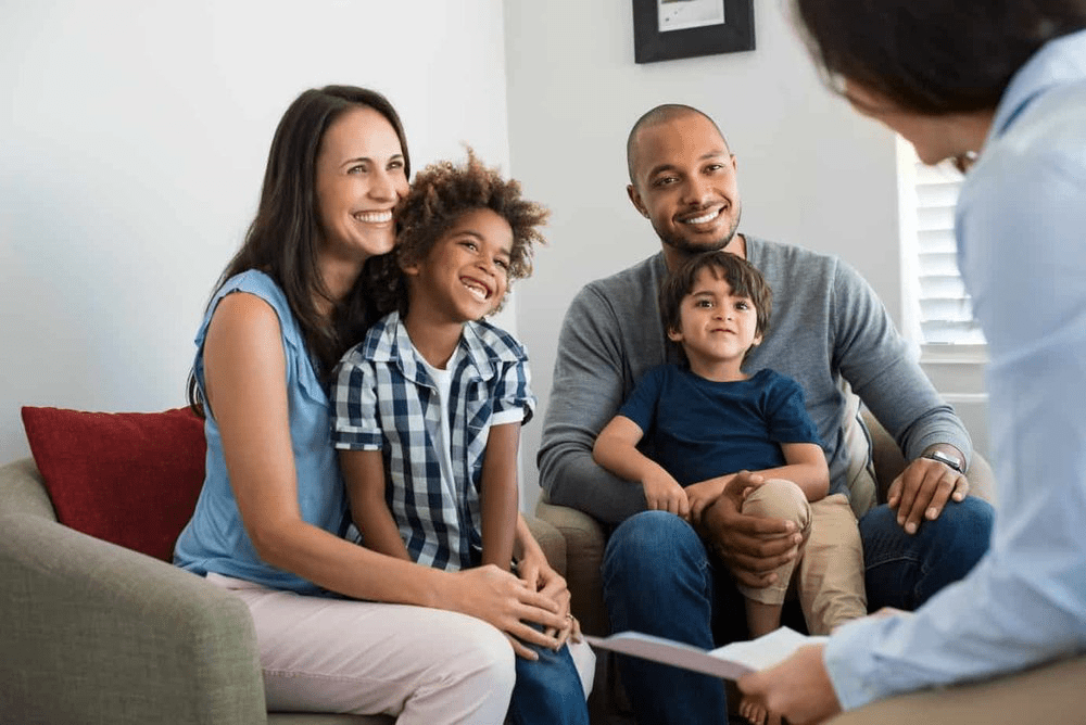 family therapy with biracial family, family therapy with young kids