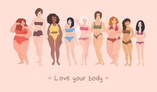 love your body, women of all shapes and sizes