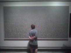Mc contemplating art