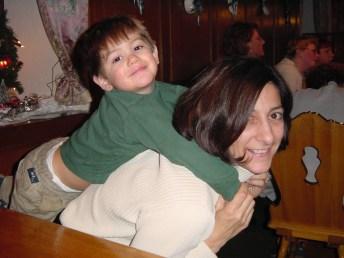 Mom piggyback Germany