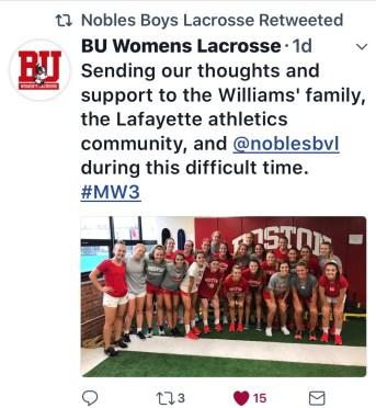 Tribute BU Womens Lax