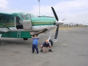 africa kids getting on plane3