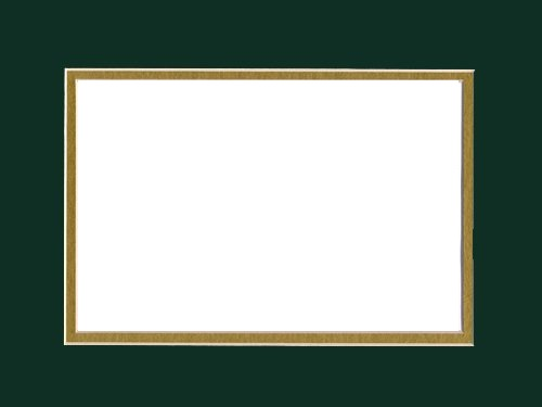 Forest Green over Gold S.O. Mat