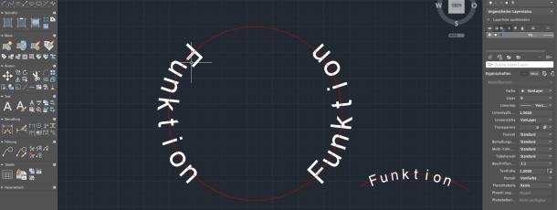 AutoCAD MAC 2019: Text Ausrichtung auf einen Bogen oder Kreis -Autolisp