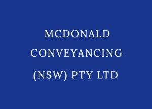 mcdonald conveyancing nsw