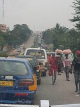 Daytime traffic in Kumasi