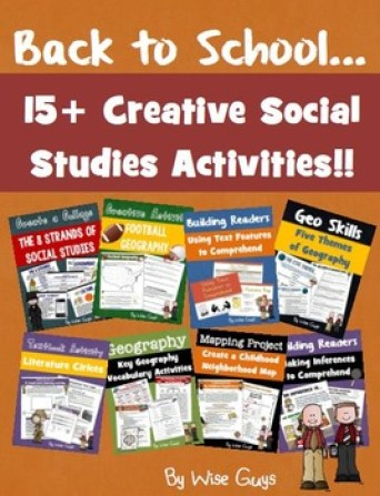 Here are fifteen creative back to school social studies activities to use in your classroom.