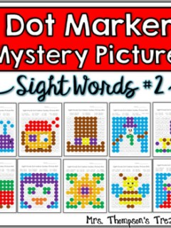 Sight Word Practice - Dot Marker Mystery Picture Activities SET 2