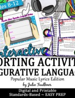 Figurative Language Review Game {Popular Songs Version} Wo