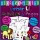 Letter L Alphabet Unit Plan